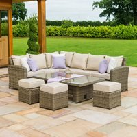 Maze Rattan Winchester Kingston Corner Dining Set with Rising Table