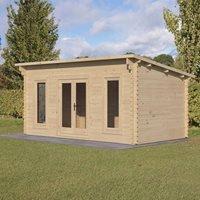 Forest Garden Elmley Double Glazed 5m x 3m Log Cabin - 34kg Felt Plus Underlay
