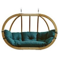 Product photograph showing Globo Royal Garden Hanging Chair In Green
