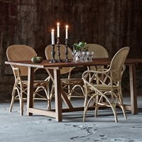 SIKA STACKABLE RATTAN ROSSINI DINING CHAIR in Natural
