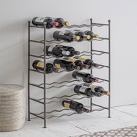 Product photograph showing Garden Trading Farringdon Metal Wine Rack