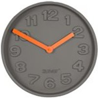 Product photograph showing Zuiver Concrete Time Clock With Orange Hands