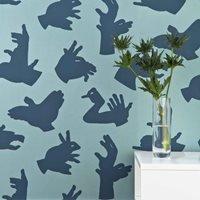 Designer Kids Wallpaper- Hand Made in Blue