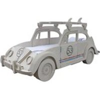 Product photograph showing Beetle Herbie Themed Kids Bed With Surf Board Storage