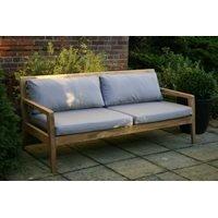 Menton Luxury Teak Sofa Bench with Grey Cushions