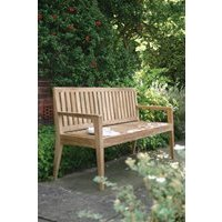 MENTON  LUXURY 2 SEAT TEAK BENCH