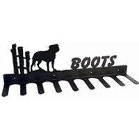 Boot Rack in Staffordshire Terrier Design - Medium