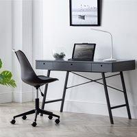 Product photograph showing Julian Bowen Trianon Desk - Grey