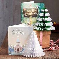 4 Honeycomb Christmas Cards