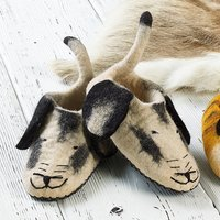 Felted Dog Slippers