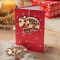 4 Julemanden Ornament Cards