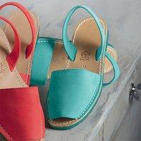 Èze Leather Sandals Aqua