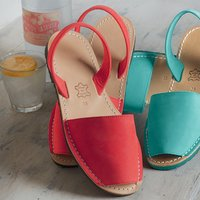 Èze Leather Sandals Red