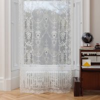 Ayrshire Lace - Highland Rose (colour: Natural White, size: 132x320cm)