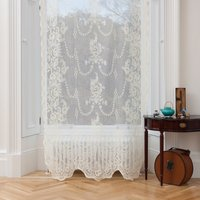 Ayrshire Lace - Iona (colour: Ivory, size: 132x229cm)