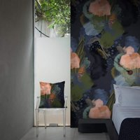 English Rose Wallpaper by Feathr (colour: Midnight)