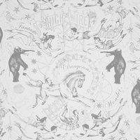 Hand Printed Highwire Wallpaper (colour: Dove Grey)