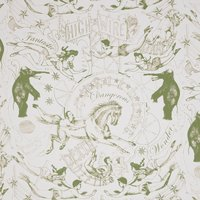 Hand Printed Highwire Wallpaper (colour: Olive)