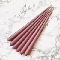 Hand Dipped Taper candles - Rose Petal (6 pack)