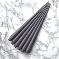 Hand Dipped Taper candles - Mink (6 pack)