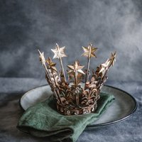 Antiqued Jewelled Winter Crown