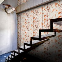 Crystallise Wallpaper by Feathr (colour: copper)