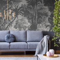 Lost in Goa Wall Mural (colour: Monochrome, size: Large (450w x 300h))