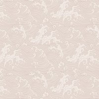 Ocean Spray (Japanese Wave) Wallpaper (colour: Blush)