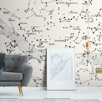 Polaire Wall Mural (colour: Vintage White, size: Small (150w x 300h))