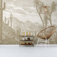 The Oasis Wall Mural (colour: Tan, size: Medium (300w x 300h))