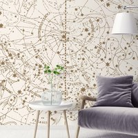Visible Heaven Wall Mural (colour: Vintage White, size: Small (150w x 300h))