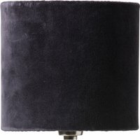 Papillon Pleated Silk and Velvet Lampshade - Dark Grey (size: Small)