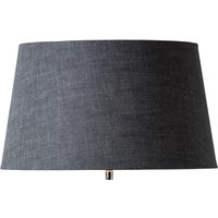Slate Grey Rustic Linen Lampshade (size: Large)