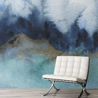 Mystic Wall Mural (colour: Teal, size: Large (450w x 320h))