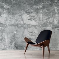 Swan Wall Mural (colour: Mist Grey, size: Medium (300w x 320h))