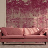 Swan Wall Mural (colour: Rose, size: Large (450w x 320h))