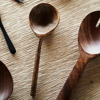 Hand Carved Wooden Coffee Spoon