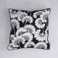 Florence Broadhurst Japanese Floral Cotton Cushion (colour: Black, size: 40x40 cm)
