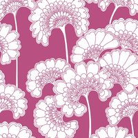 Florence Broadhurst Japanese Floral Wallpaper (colour: Deep Pink)