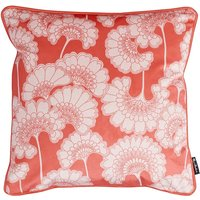 Florence Broadhurst Japanese Floral Velvet Cushion (colour: Coral)