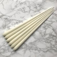 Hand Dipped Taper Candles - Ivory, 42 cm (6 pack)