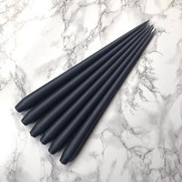 Hand Dipped Taper Candles - Slate (6 pack)