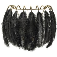 Feather Wall Lamp - Black
