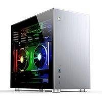 Jonsbo V10 TG Silver mT Sans Alim ITX