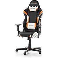 DXRacer Racing R288 NOW Noir Blanc Orange Simili Cuir 3D