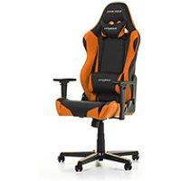 DXRacer Racing R0 NO Noir Orange Simili Cuir 3D