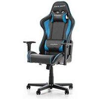 DXRacer Formula F08 NB Noir Bleu Simili Cuir 3D