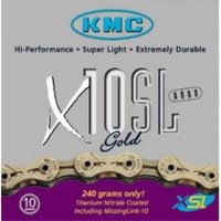 Kmc X10-sl Gold 10 Speed Bike Chain