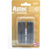 Aztec V-type insert brake blocks standard charcoal 2 pairs