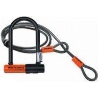 Kryptonite Evolution Mini 7 Lock With 4 Foot Kryptoflex Cable With Flexframe Bracket